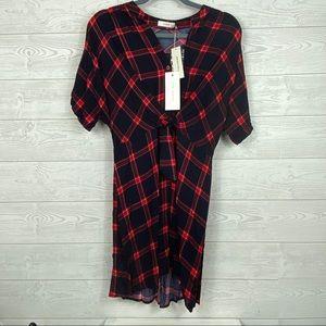 Francescas Lush I NWT Plaid High Love Dress